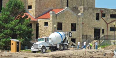 Daniels Ready Mix working on Southwestern College